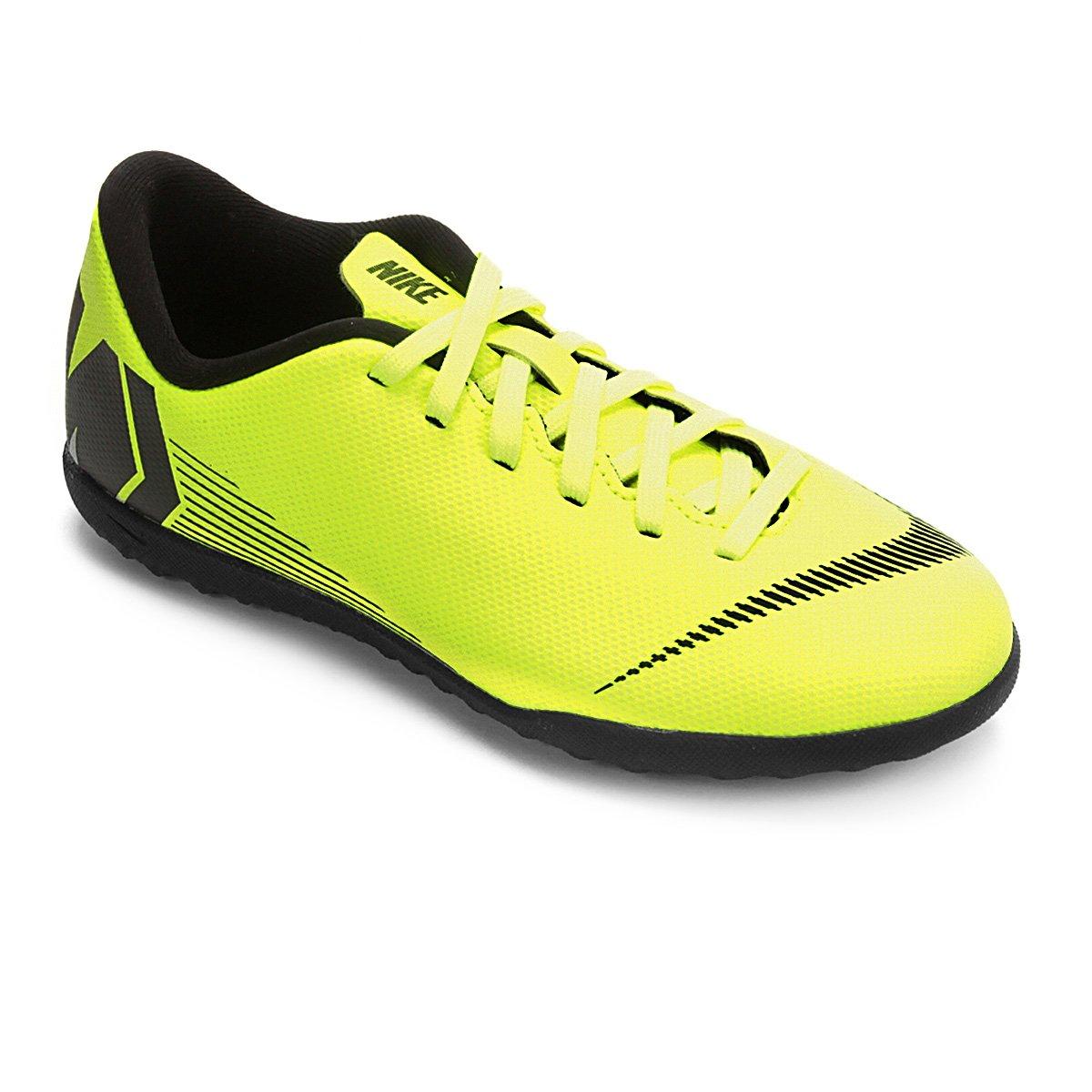 32%OFF Chuteira Society Infantil Nike Mercurial VaporX 12 Club GS TF 934dae2d24f4b