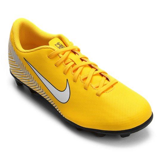 80c6a059e7 Chuteira Campo Nike Mercurial Vapor 12 Club Neymar FG - Amarelo e ...