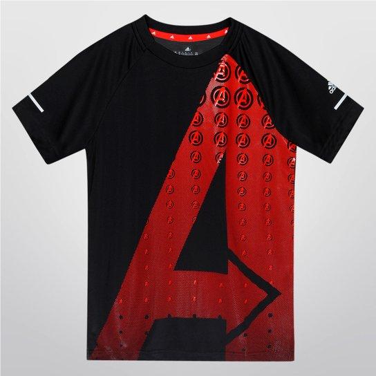 Camiseta Adidas Yb Disney Vingadores Infantil - Cinza+Vermelho 89a8b751541bf