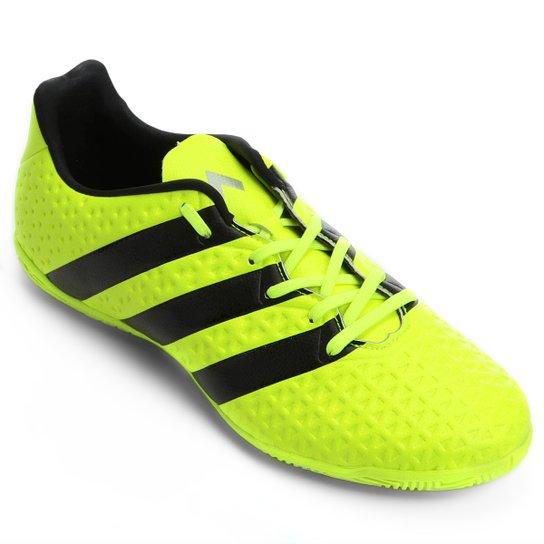 88eca370b73a6 Chuteira Futsal Adidas Ace 16.4 IN - Verde Limão e Preto - Compre ...