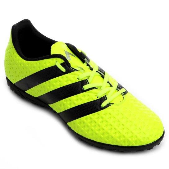 60a108ad336f0 Chuteira Society Adidas Ace 16.4 TF Masculina - Verde Limão e Preto ...