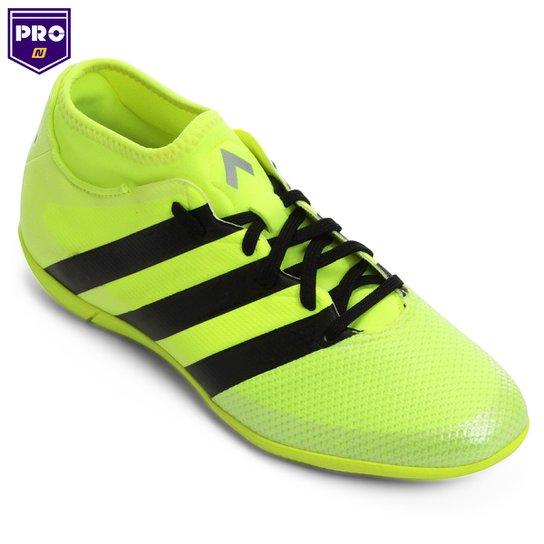 Chuteira Futsal Adidas Ace 16.3 Primemesh IN Masculina - Verde Limão+Preto 228f753ed8682