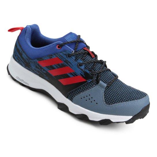 0ebe3d0e5f9 Tênis Adidas Galaxy Trail Masculino - Cinza+Vermelho