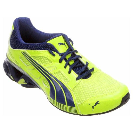 8e7b7a5083 Tênis Puma Ultra V3 Mesh DP Masculino - Verde Limão+Azul