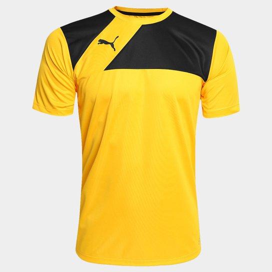 Camisa Puma BR Entry Training Jersey Masculina - Amarelo e Preto ... c2122641b6d25