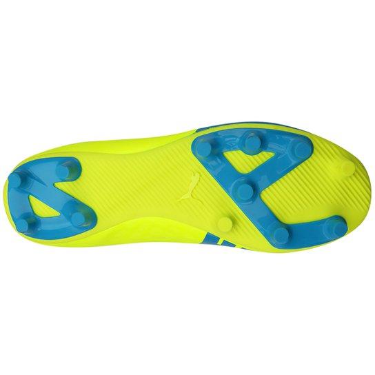 196a58c9c9 ... Chuteira Puma Evospeed 5.4 FG Campo - Amarelo+Azul ...