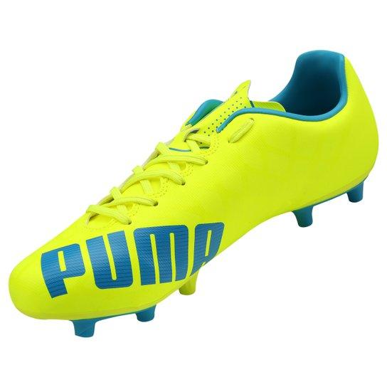 0885cffa14 ... Chuteira Puma Evospeed 5.4 FG Campo - Amarelo+Azul