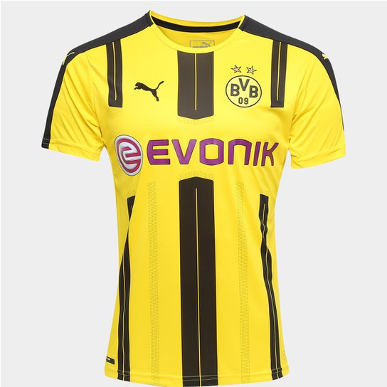 fc8345d16 Camisa Borussia Dortmund Home 16 17 s nº Torcedor Puma Masculina - Amarelo+