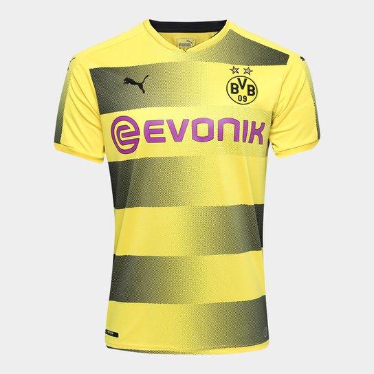 9947e156a Camisa Borussia Dortmund Home 17 18 s n° Torcedor Puma Masculina - Amarelo