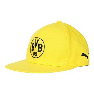 ad8e946462 Boné Puma Borussia Dortmund Aba Reta Stretch Fit Logo