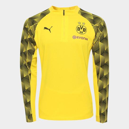 Camisa de Treino Manga Longa Borussia Dortmund Puma Stadium Masculina -  Amarelo+Preto 900fafe9310de