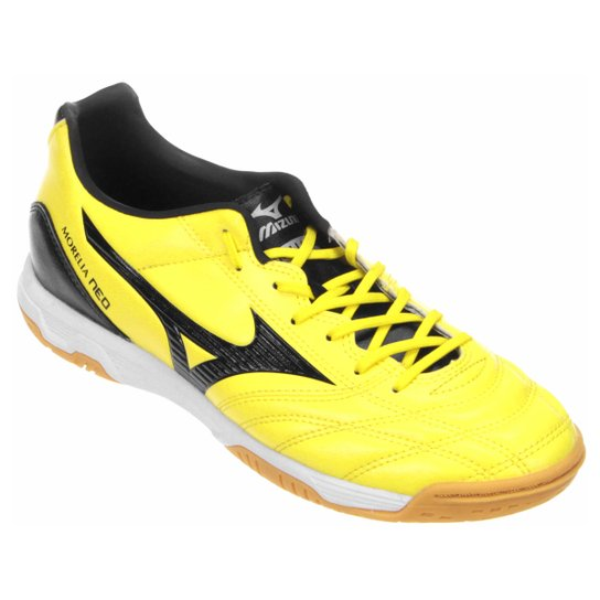 84b3d6c671248 Chuteira Futsal Mizuno Morelia Neo Classic Salão Masculina - Amarelo+Preto