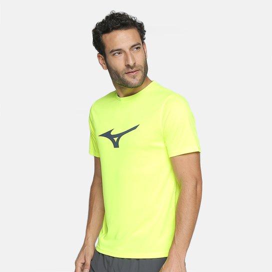 b037189e89 Camiseta Mizuno Run Spark Masculina - Verde Limão - Compre Agora ...