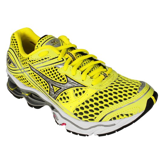 72e33bae6a Tenis Running Mizuno Wave Creation 13 W - Amarelo+Preto