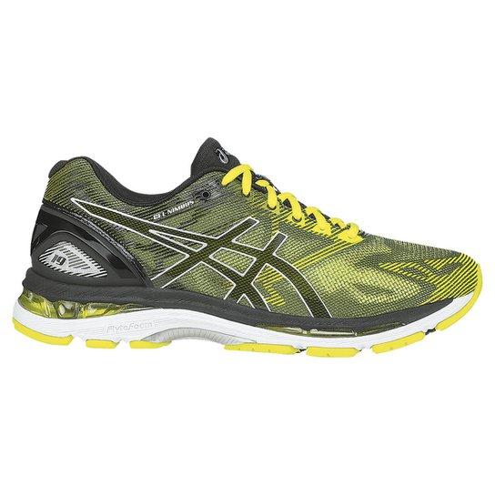 a794e5c213c Tênis Asics Gel Nimbus 19 Masculino - Verde Limão+Preto