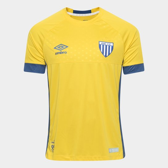 0c4b043fc3 Camisa Goleiro Avaí 18 19 Torcedor Masculina - Amarelo e Azul ...