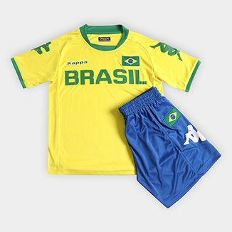 61de0ab3f6 Kit Kappa Brasil Infantil