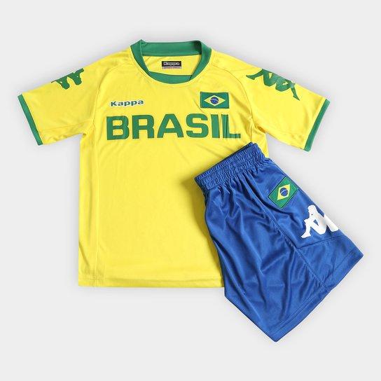 dd7e3cc37f Kit Kappa Brasil Infantil - Compre Agora