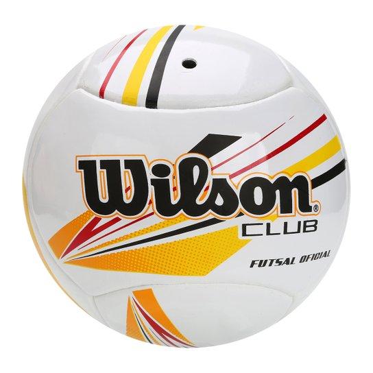 9646a6872 Bola Futsal Wilson Club - Branco+Amarelo
