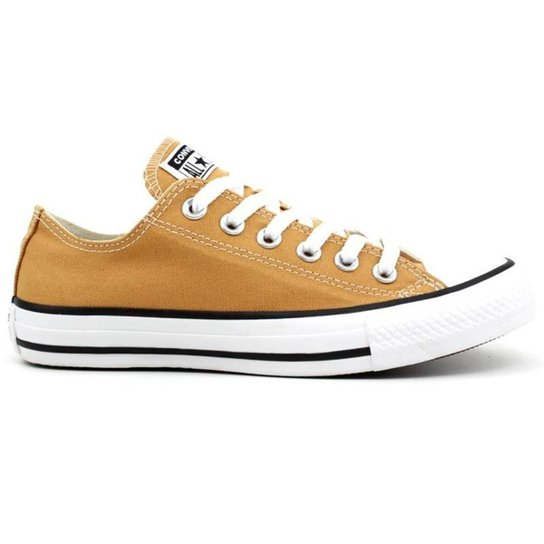 ace568e68bbd4 Tênis Converse All Star Chuck Taylor As Core Ox M - Amarelo e Preto ...