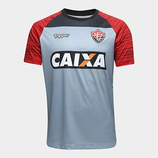 Camisa Vitória Treino 2018 Topper Masculina 43c7c24d74e89