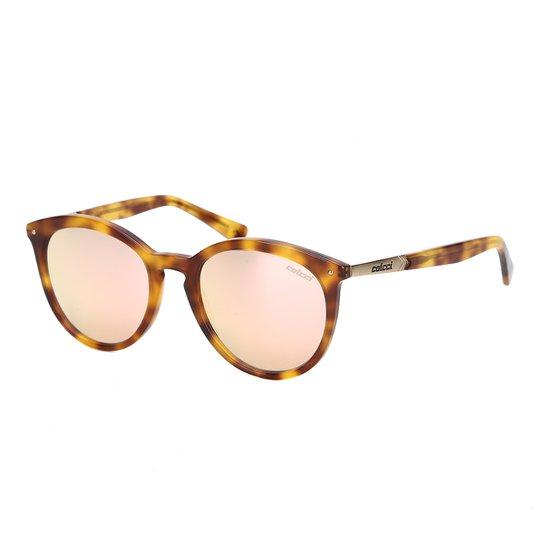 fe698ed7c Óculos de Sol Colcci Espelhado C0110 Feminino - Amarelo e Marrom ...