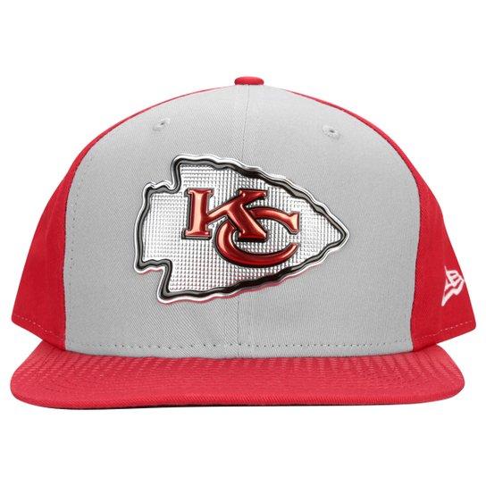 Boné New Era NFL 950 Draft Colletion Kansas City Chiefs - Cinza+Vermelho a23a39df636