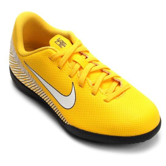 Chuteira Futsal Infantil Nike Mercurial Vapor 12 Club GS Neymar IC -  Amarelo+Preto 153eff166efe1