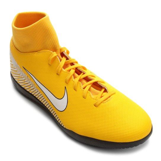 Chuteira Futsal Nike Mercurial Superfly 6 Club Neymar IC - Amarelo e ... 47d7b28fe2043