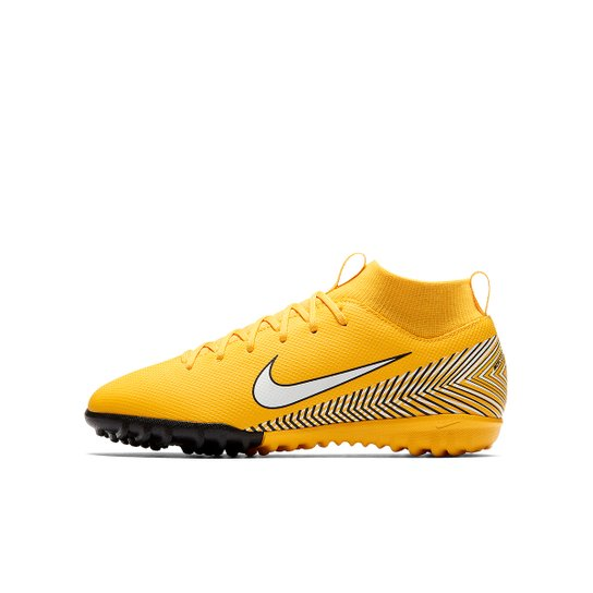 Chuteira Society Infantil Nike Mercurial Superfly 6 Academy GS Neymar TF -  Amarelo+Preto 7eab4adfed59c
