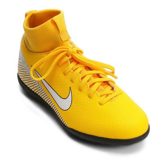 Chuteira Society Infantil Nike Mercurial Superfly 6 Club Neymar TF -  Amarelo+Preto 114dcab26e352
