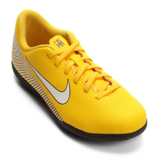 5d7f2b8519 Chuteira Society Infantil Nike Mercurial Vapor 12 Club GS Neymar TF -  Amarelo+Preto