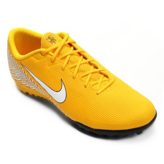 Chuteira Society Nike Mercurial Vapor 12 Academy Neymar TF - Amarelo+Preto 565d643020fac