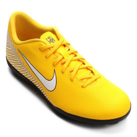 d4eed80cc4 Chuteira Society Nike Mercurial Vapor 12 Club Neymar TF - Amarelo e ...