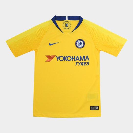 66807610b14e0 Camisa Chelsea Infantil Away 2018 s n° - Torcedor Nike - Amarelo e ...
