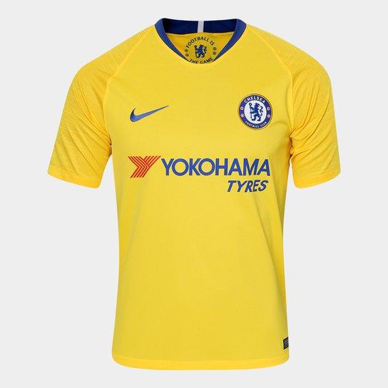 Camisa Chelsea Away 2018 s n° - Torcedor Nike Masculina - Amarelo e ... f3e213682d9ec