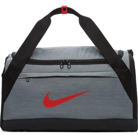 b21751fbe Mala Nike de Treino Duffel Brasília - Cinza e Vermelho | Netshoes