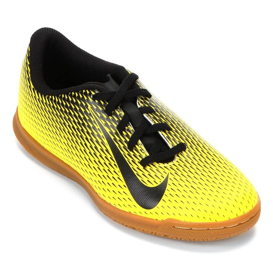 429398498 Chuteira Futsal Infantil Nike Bravata II IC - Amarelo e Preto   Netshoes