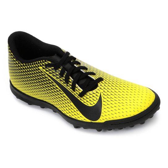 600986488d Chuteira Society Nike Bravata II TF - Amarelo e Preto