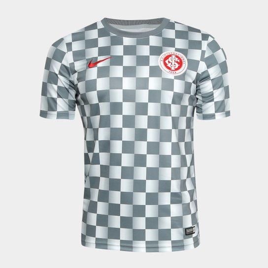 589d2ffc09b Camisa Internacional Pré Jogo 19 20 Nike Masculina - Cinza+Vermelho