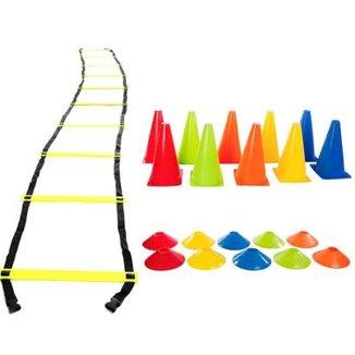 53d6102fb457e Kit Treinamento Funcional Escada De Agilidade e Cones