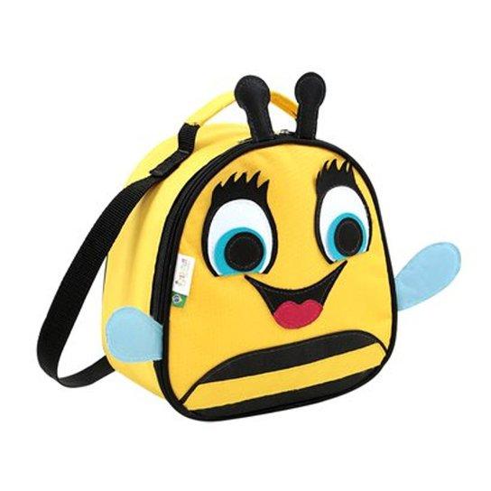 7e170f43f Lancheira Infantil Mumagi Abelha Bel Feminina - Amarelo e Preto ...