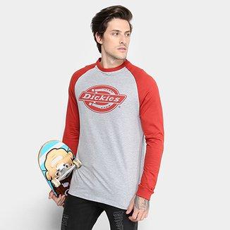 2d2ba40b5b145 Camiseta Dickies Raglan Manga Longa Masculina