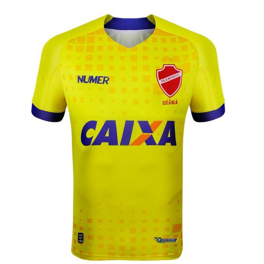 Camisa Numer Vila Nova III 2018 19 Goleiro Masculina - Amarelo e ... ccea11c1be160