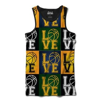 Camiseta Attack Life Regata Love Basquete Sublimada Masculina