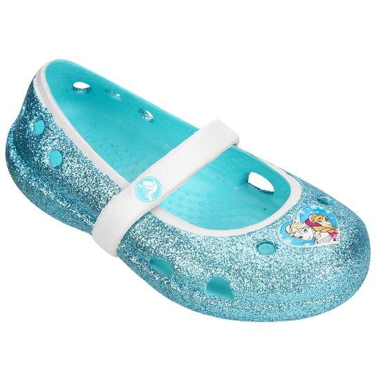 402f587d5a Sapatilha Crocs Infantil Frozen - Azul Piscina