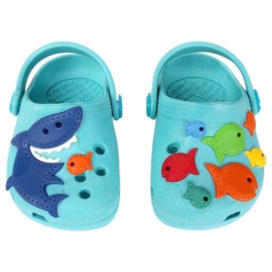 0bfa45d1e7e Babuche Plugt Tubarão Infantil - Azul Piscina ...