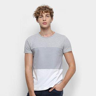 e573feee0 Camiseta Tommy Hilfiger Colour Block Texture Masculina
