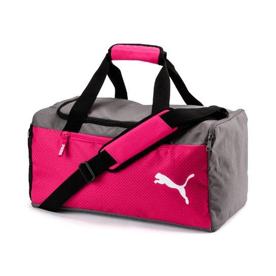 bd56e5c1e Mala Puma Fundamentals Sports Bag S - Cinza+Rosa