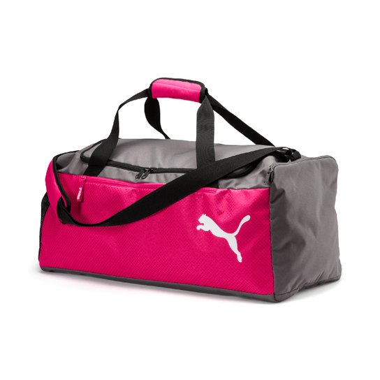 7c1bdaff5 Mala Puma Fundamentals Sports Bag M - Cinza+Pink